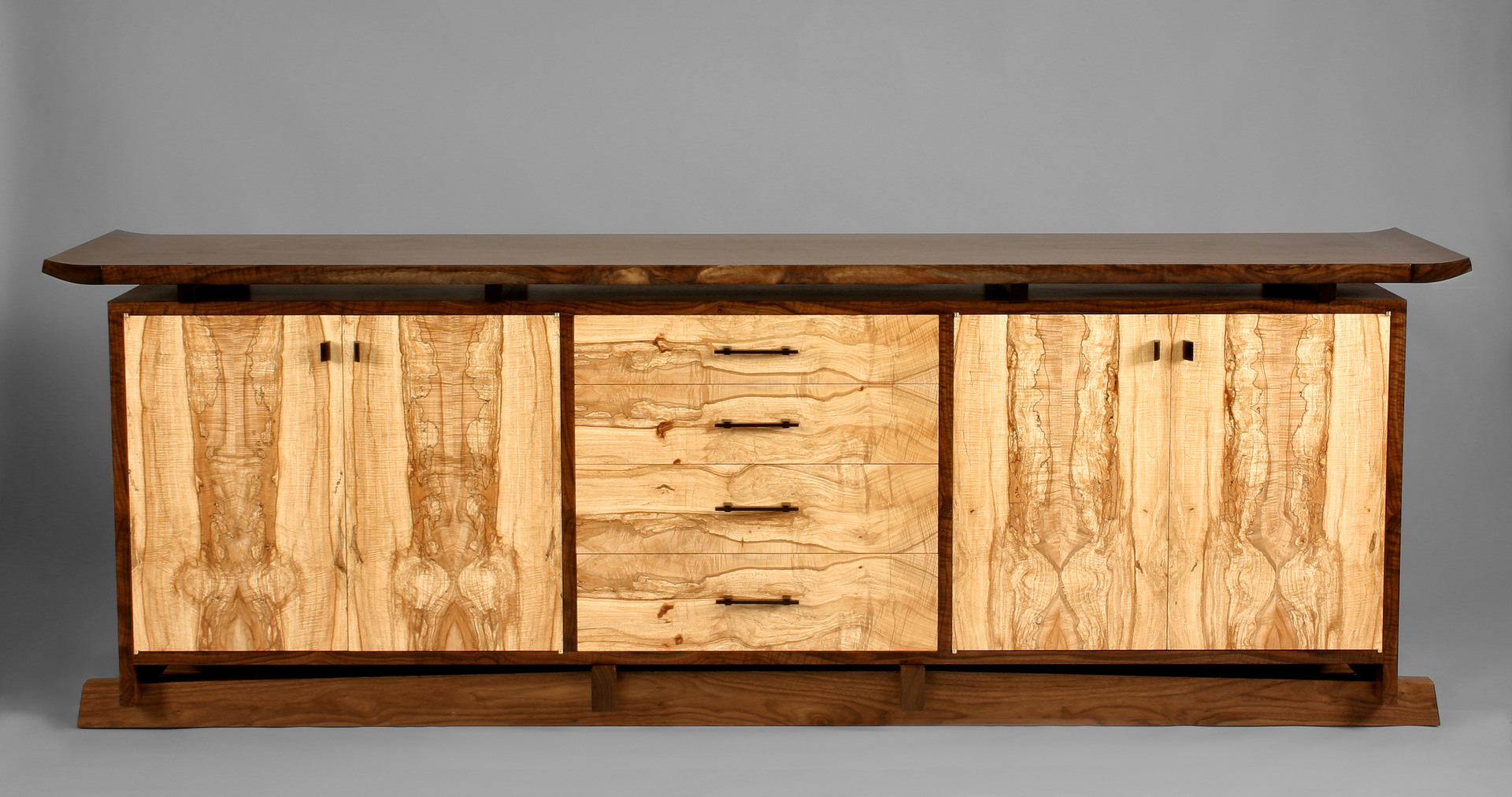 Spectacular spalted maple buffet by Stewart Wurtz