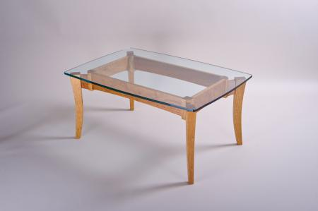Walkabout Coffee Table with Glass Top