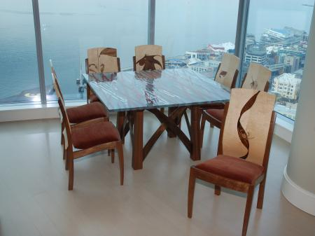 Barton Dining Table with Lopez Chairs