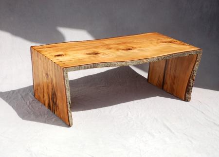 Natural Edged Splined Coffee Table