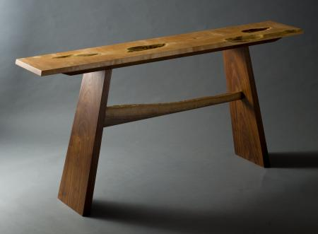 Holey Maple Hall Table