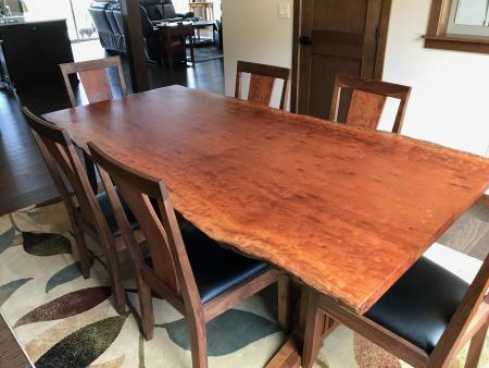 Moabi live edge dining table