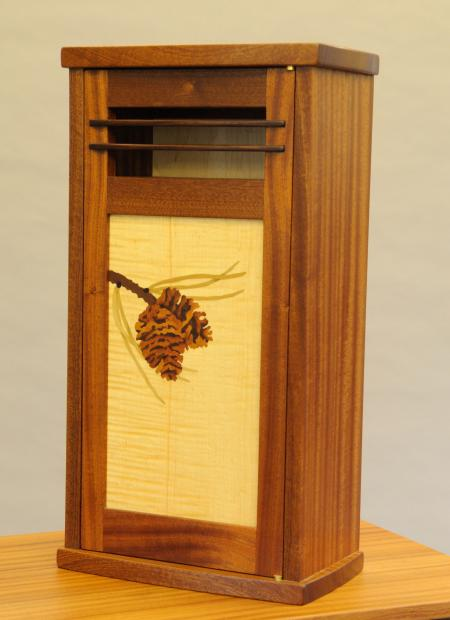 Pinecone Marquetry Cabinet