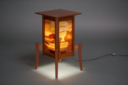 Salish Sea Marquetry Lantern