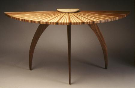 Sunburst hall table