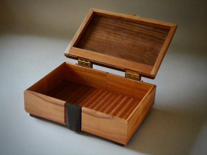 Fiery Walnut Box