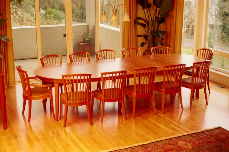 Laurel Medium Grande Dining Table (Shown with Fan Chairs)