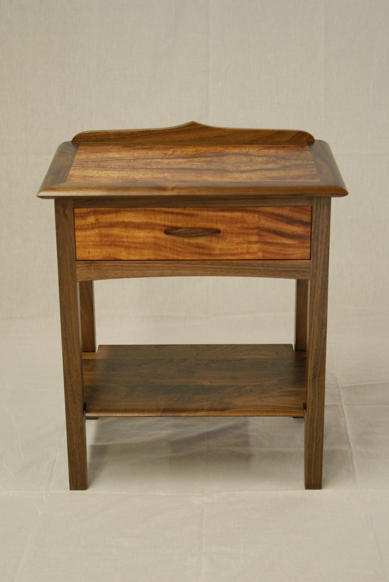nightstand walnut koa