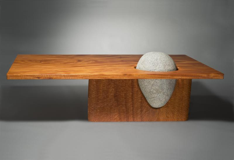 Eddy Coffee Table by Seth Rolland, side view
