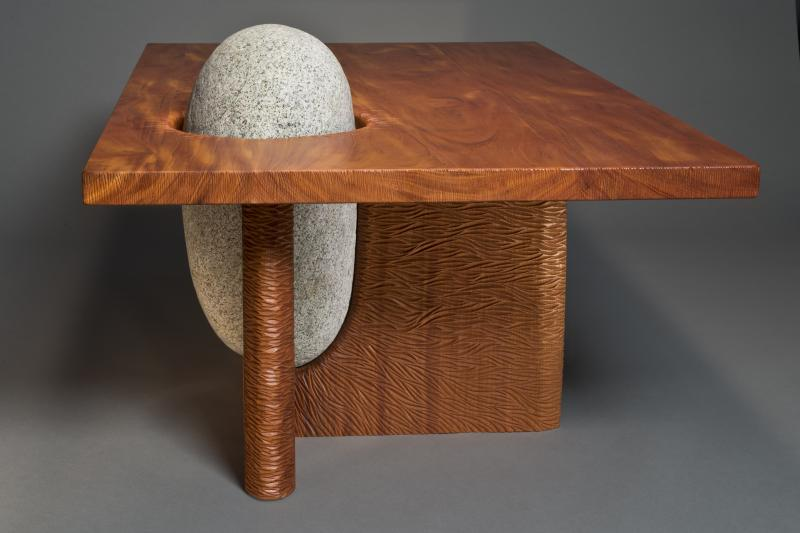 Eddy Coffee Table by Seth Rolland, end view