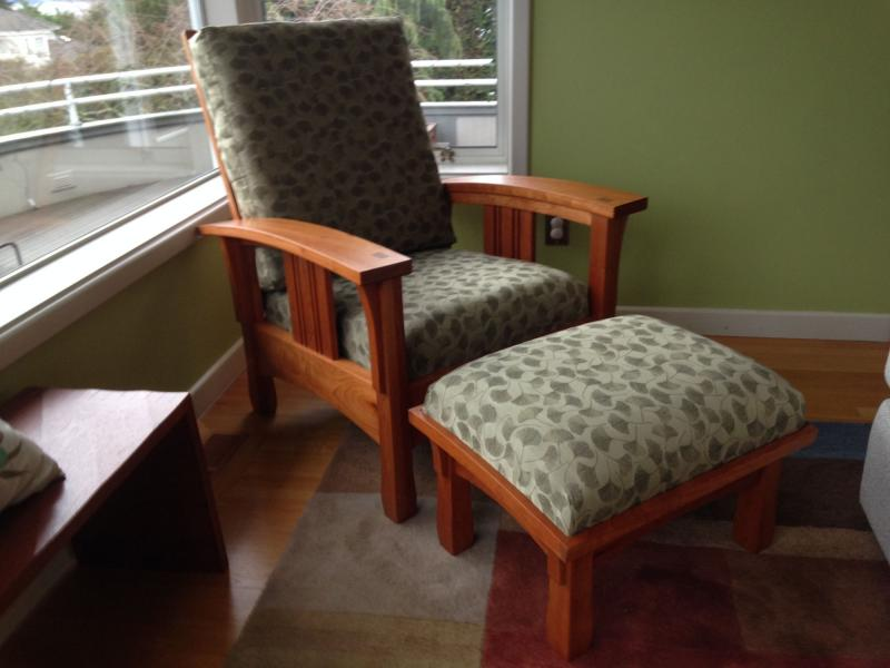 Bow Arm Chair and Ottoman