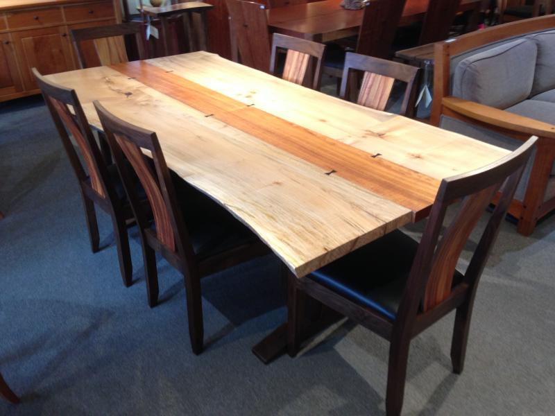 Natural Edge Timber Dining Table: Northwest Woodworkers Gallery