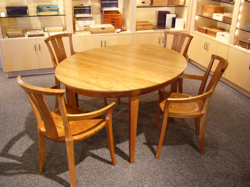 Small Maple Dining Table (shown with Neo Contemporary chairs)