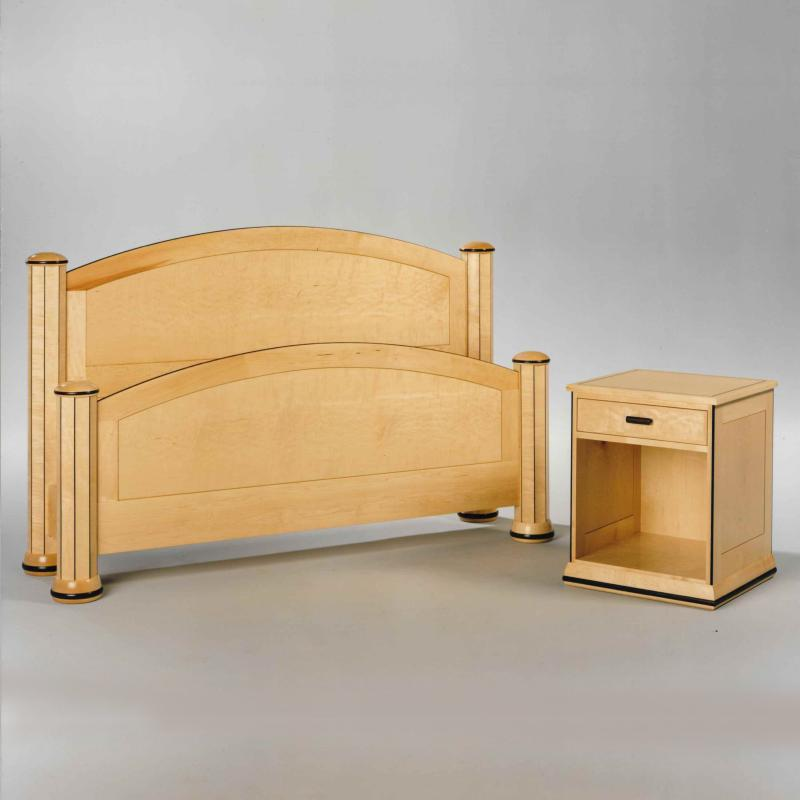 Maple Bed and Nightstand