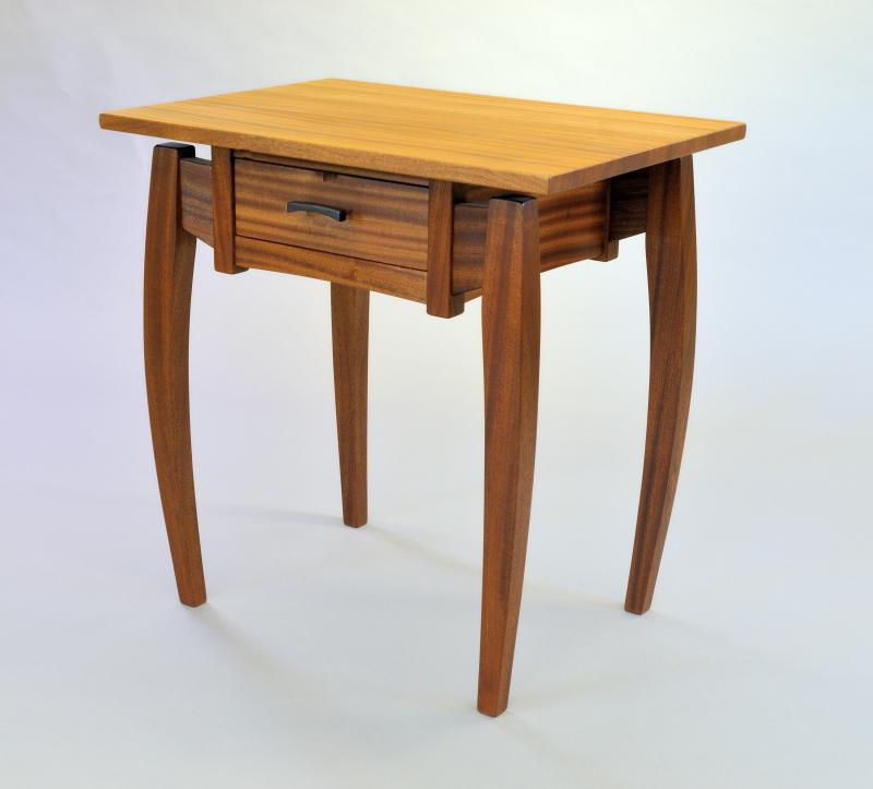 Predator end table in Sapele