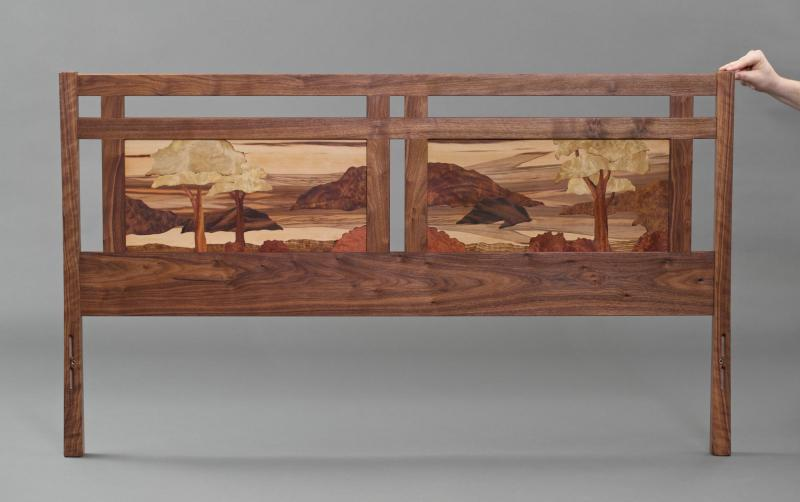 Salish Sea Marquetry Bed