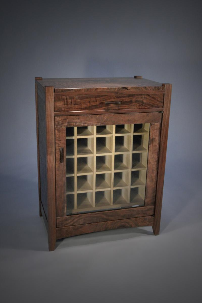 Wine cabinet by Robert Spangler
