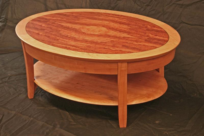 pinnacle coffee table cherry and makore