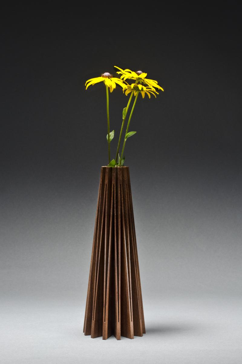 Coneflower Wooden Vase