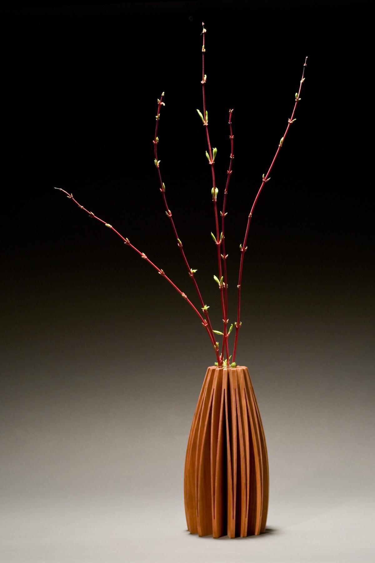 Lilac Wooden Vase, Alder