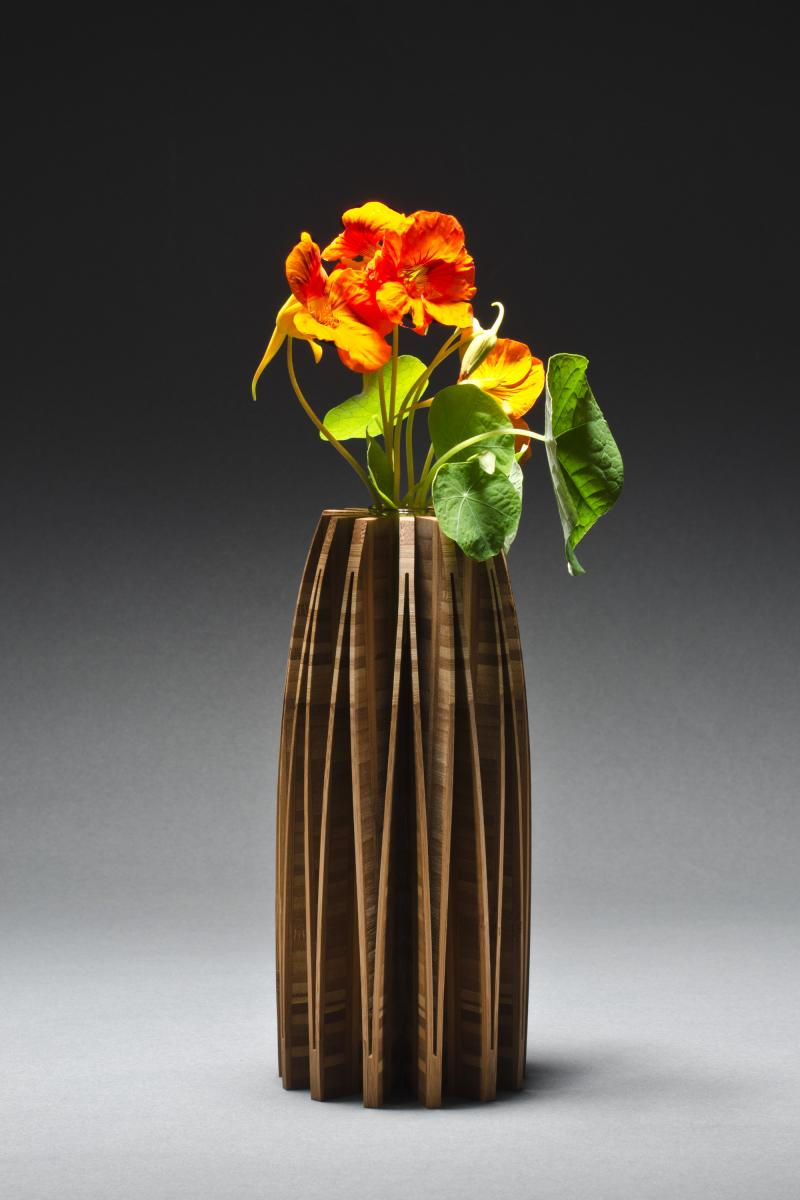 Orchid Wooden Vase, Bamboo