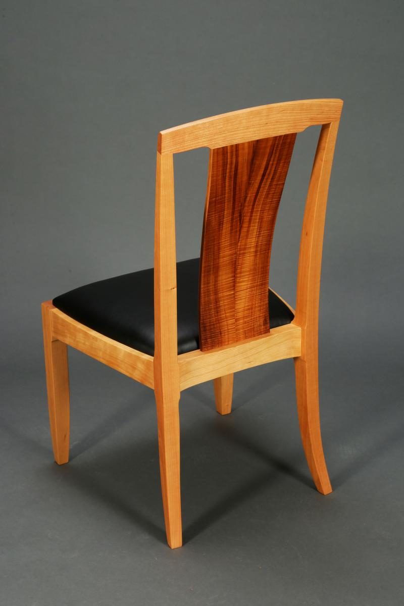 koa and cherry chair