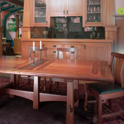 Craftsman table shown in a client dining room