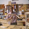 Hugh at his workbench